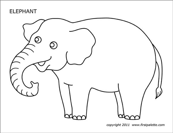 Tranh tô màu chú voi nhìn khá ngốc