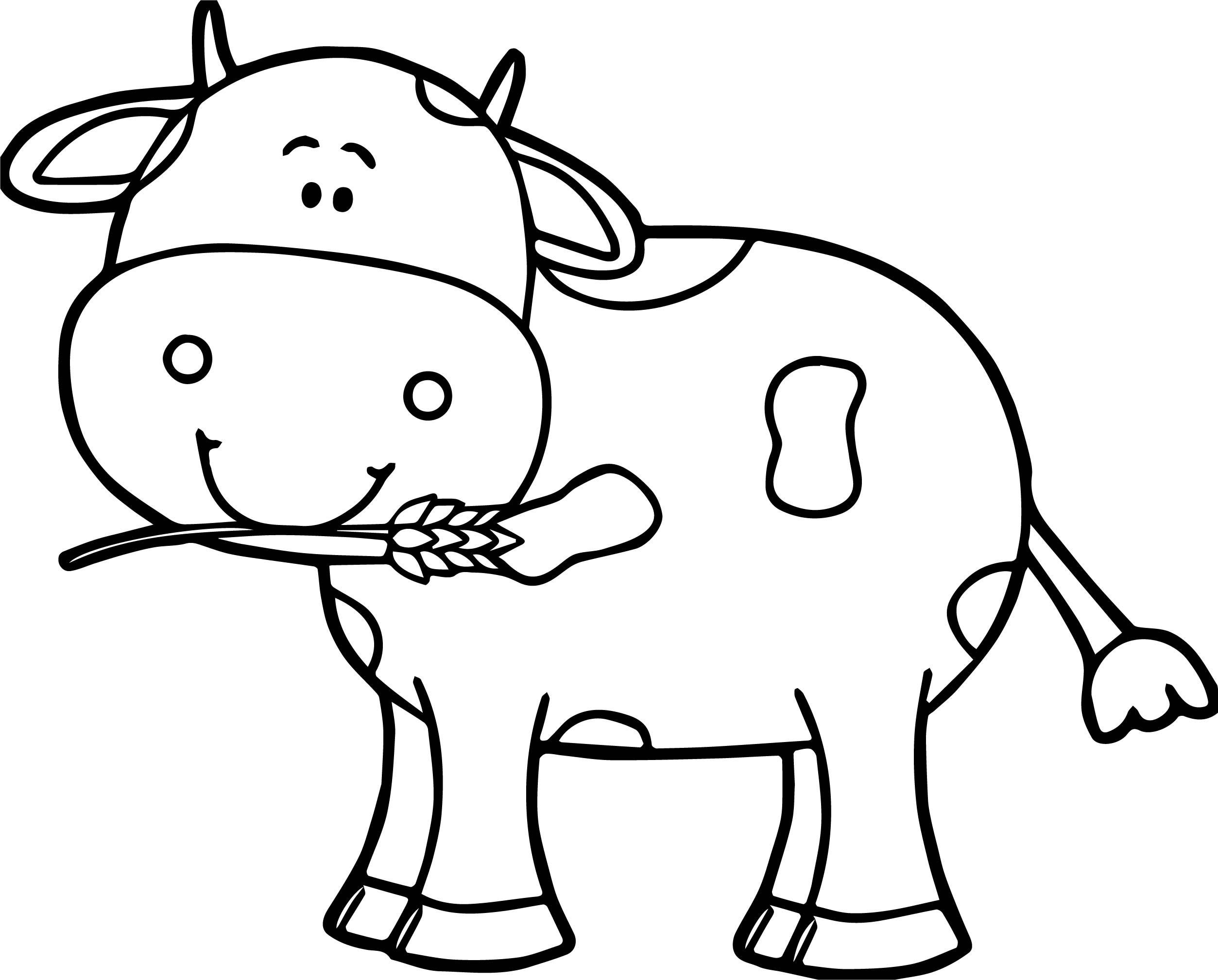 Tranh tô màu con bò đẹp