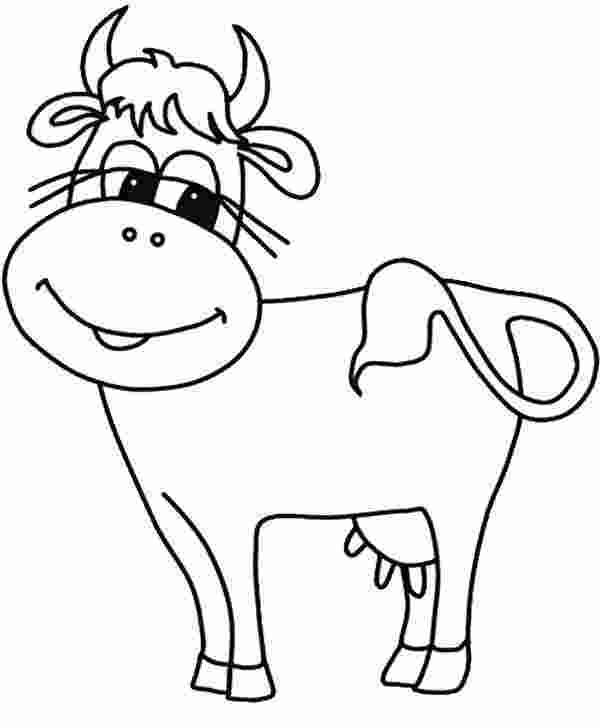 Tranh tô màu con bò ngộ nghĩnh cho bé