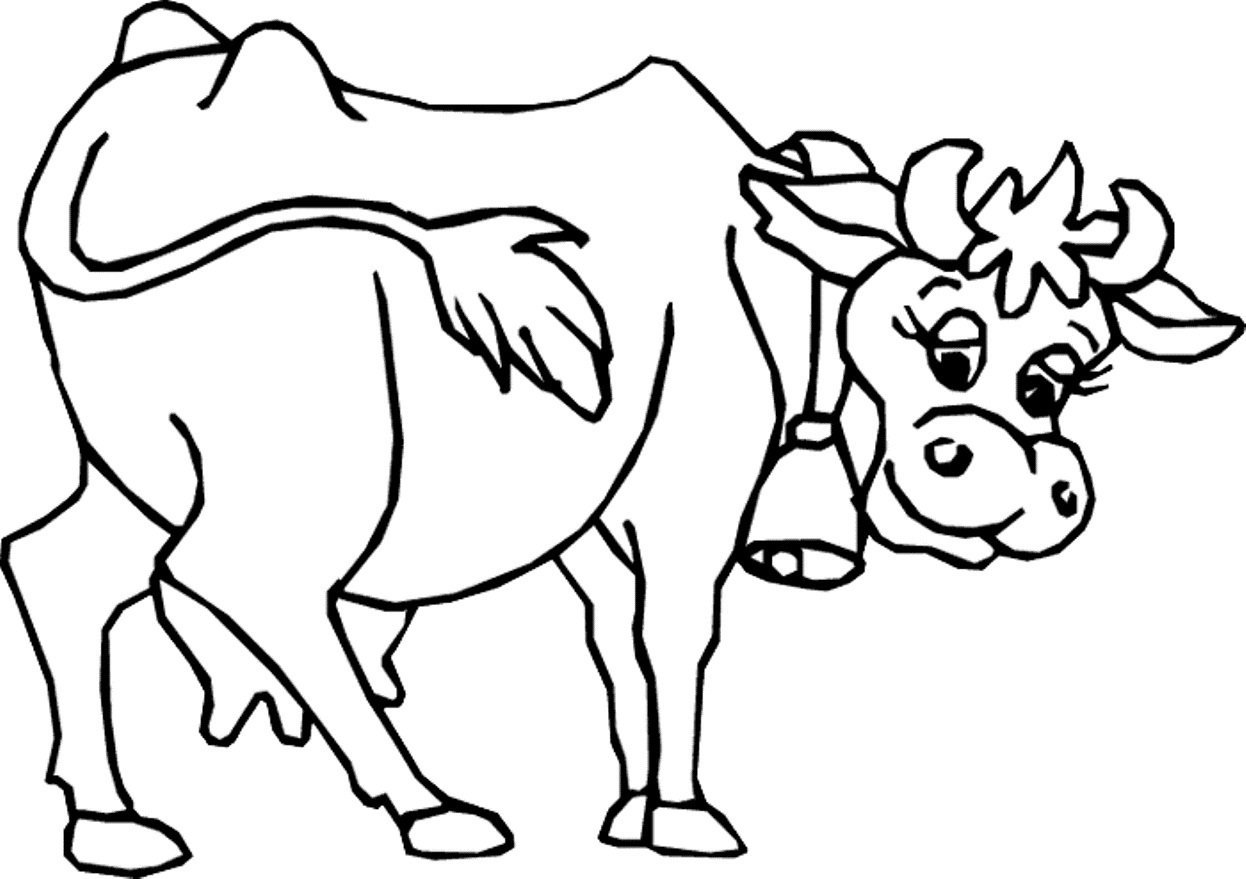 Tranh tô màu con bò sữa