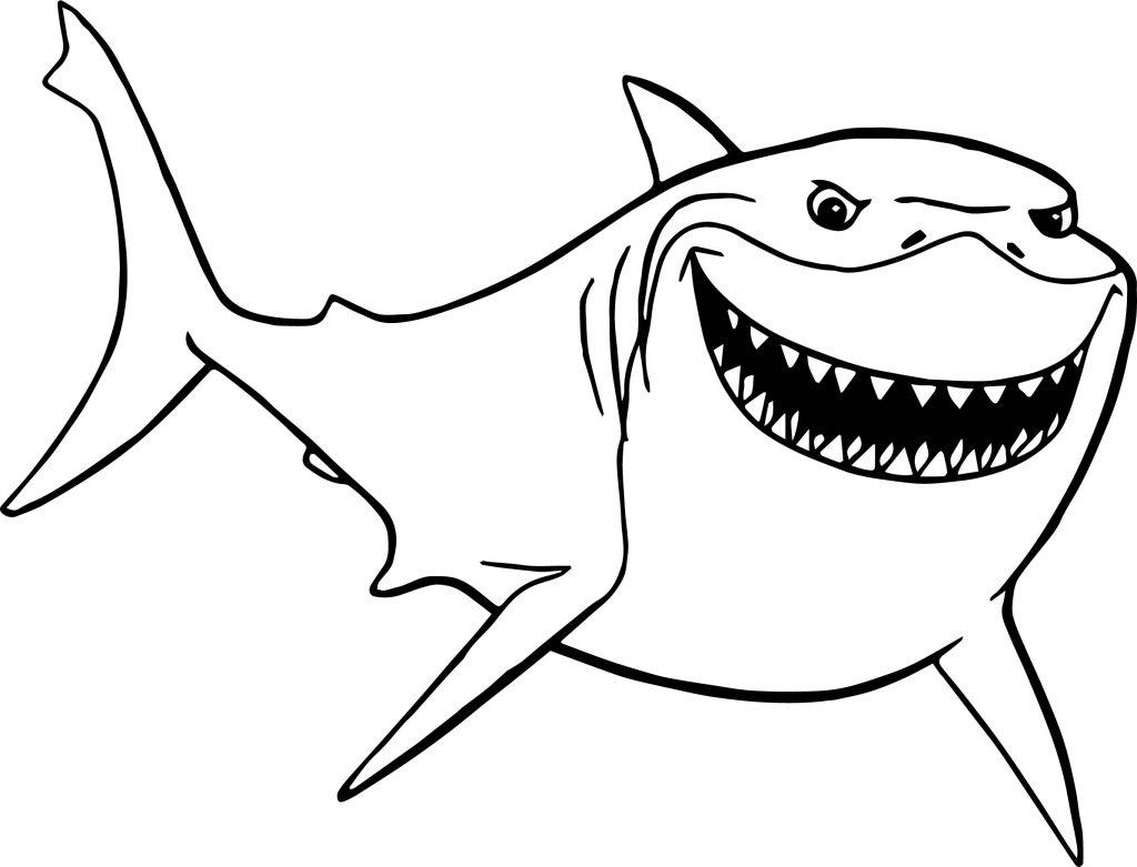 Tranh tô màu con cá mập ngầu nhất