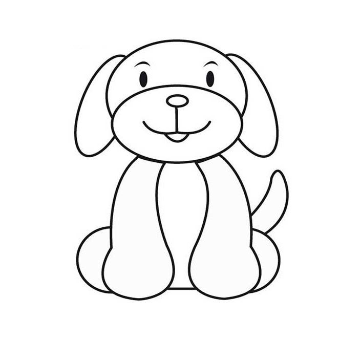 Tranh tô màu con cún cho bé 3 tuổi