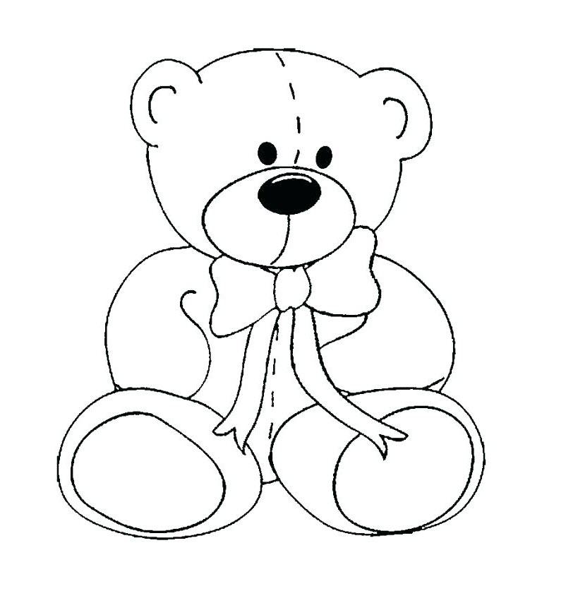 Tranh tô màu con gấu bông cho bé 3 tuổi