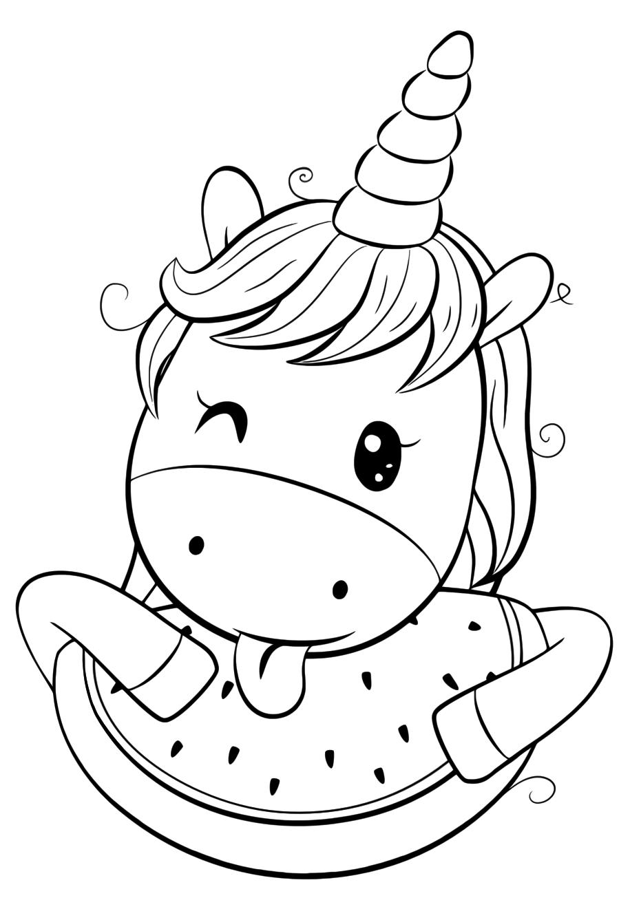 Tranh tô màu con ngựa cho bé đẹp nhất