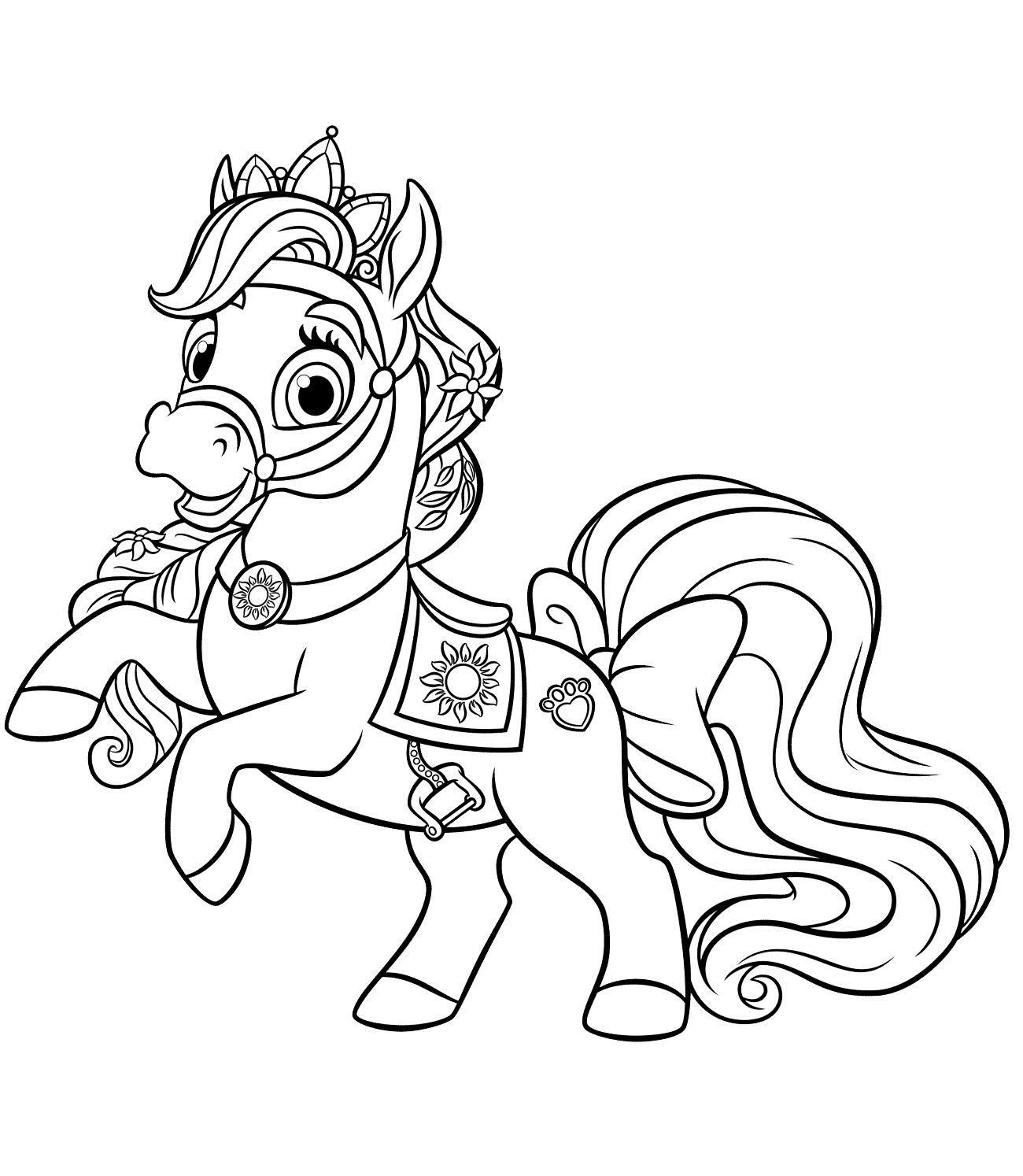 Tranh tô màu con ngựa cho bé mới tập tô