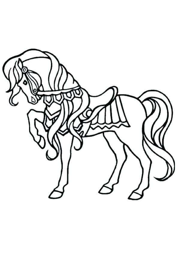 Tranh tô màu con ngựa đang đi đẹp
