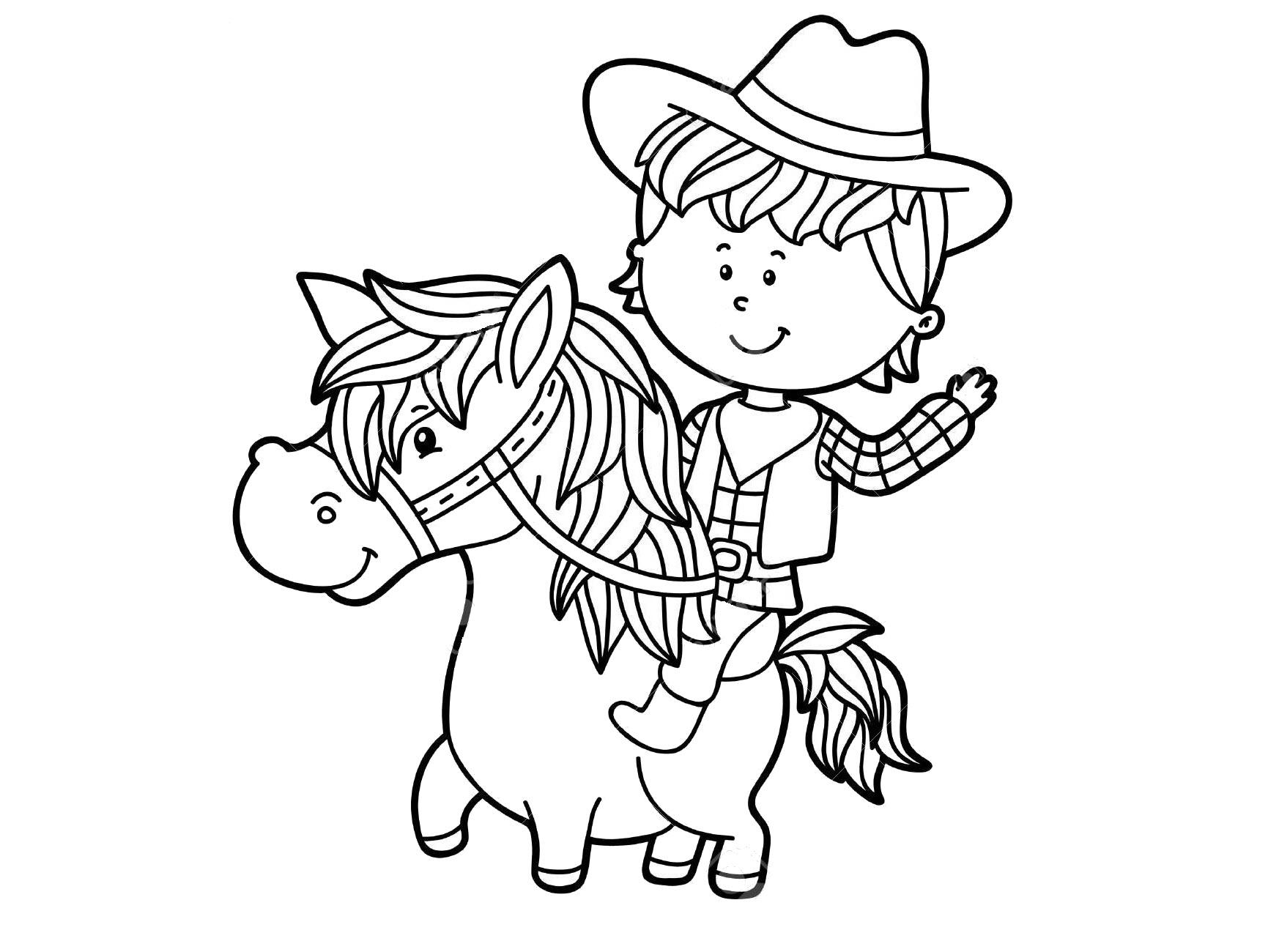 Tranh tô màu con ngựa đẹp và dễ thương
