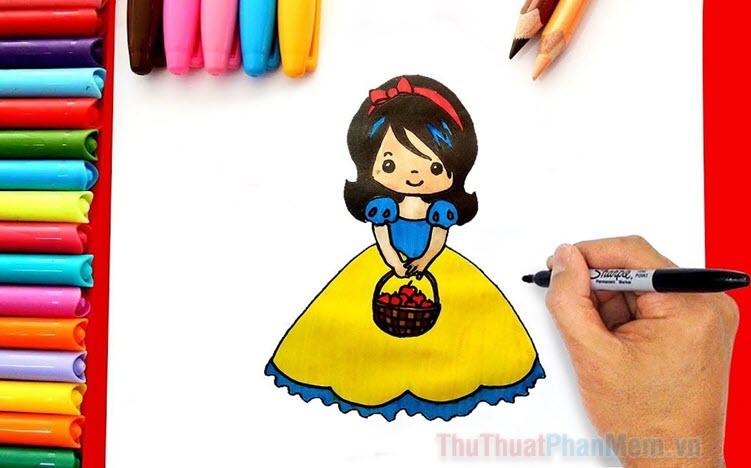 Tranh tô màu công chúa Bạch Tuyết