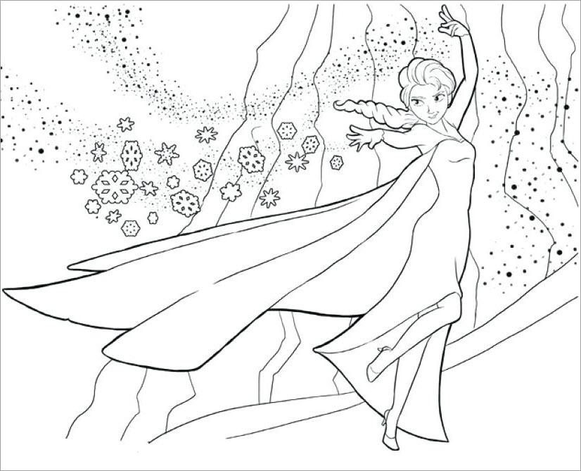 Tranh tô màu công chúa Elsa cực đẹp