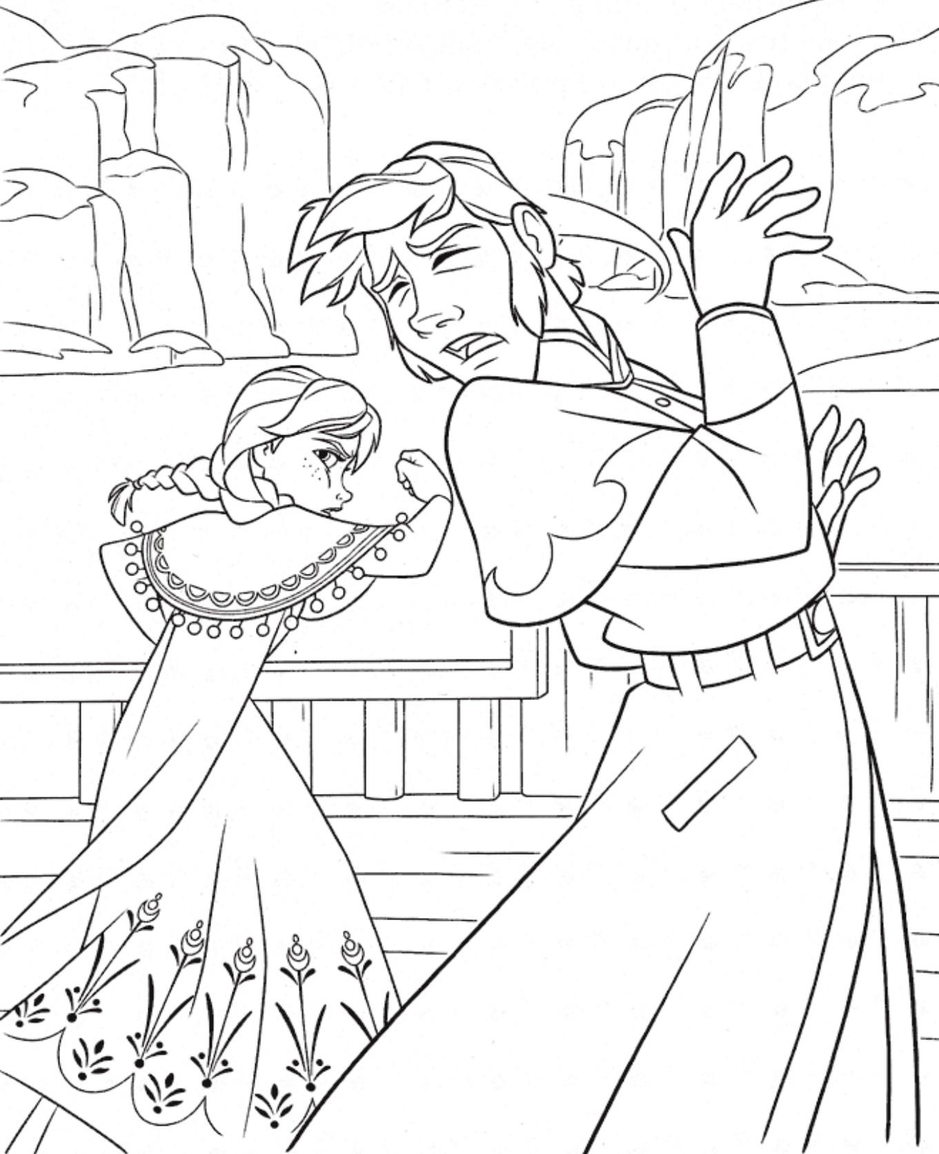 Tranh tô màu công chúa Elsa đáng yêu cực đẹp