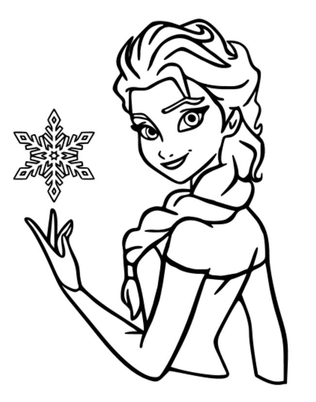 Tranh tô màu công chúa Elsa