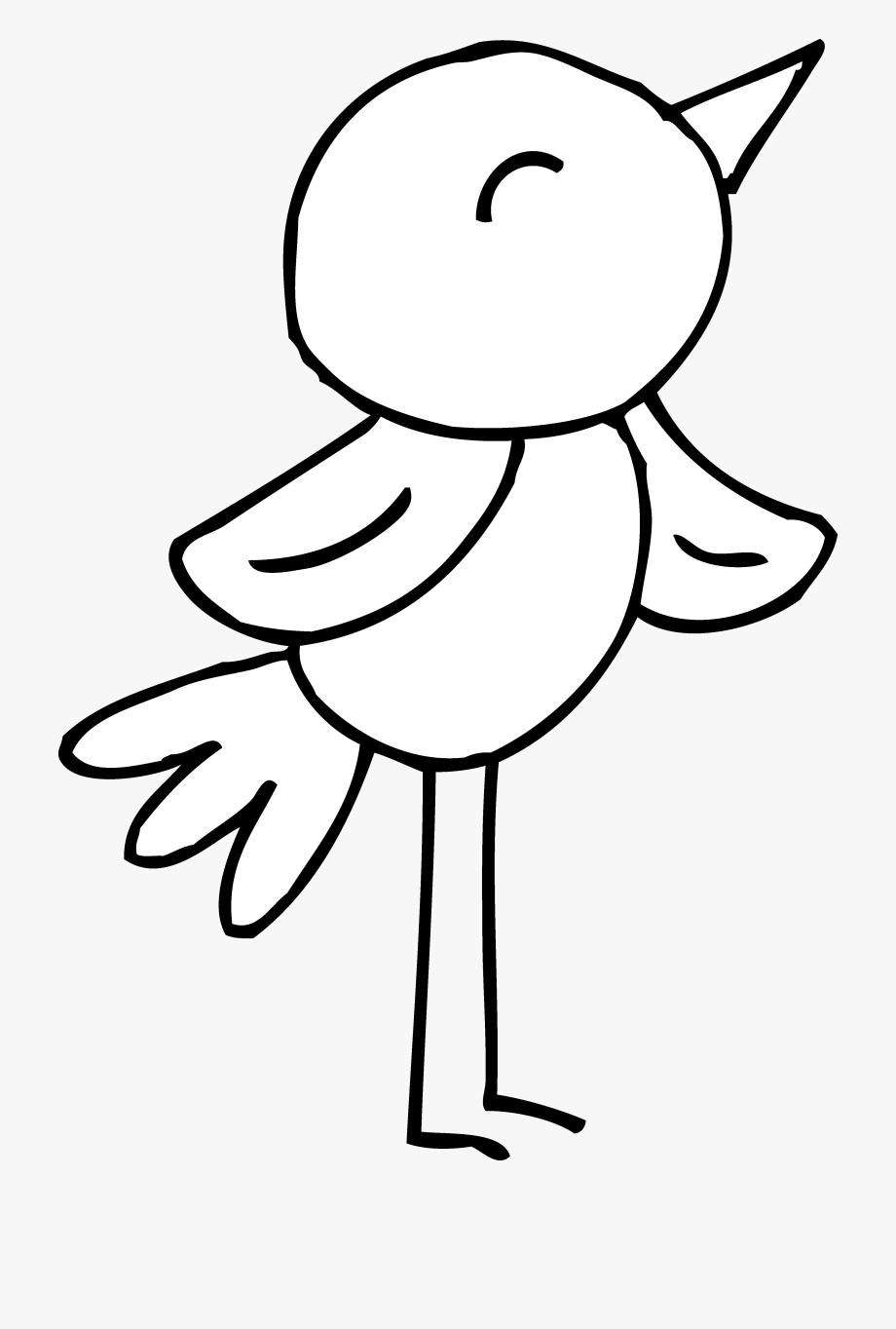 Tranh tô màu của bé chim cách điệu