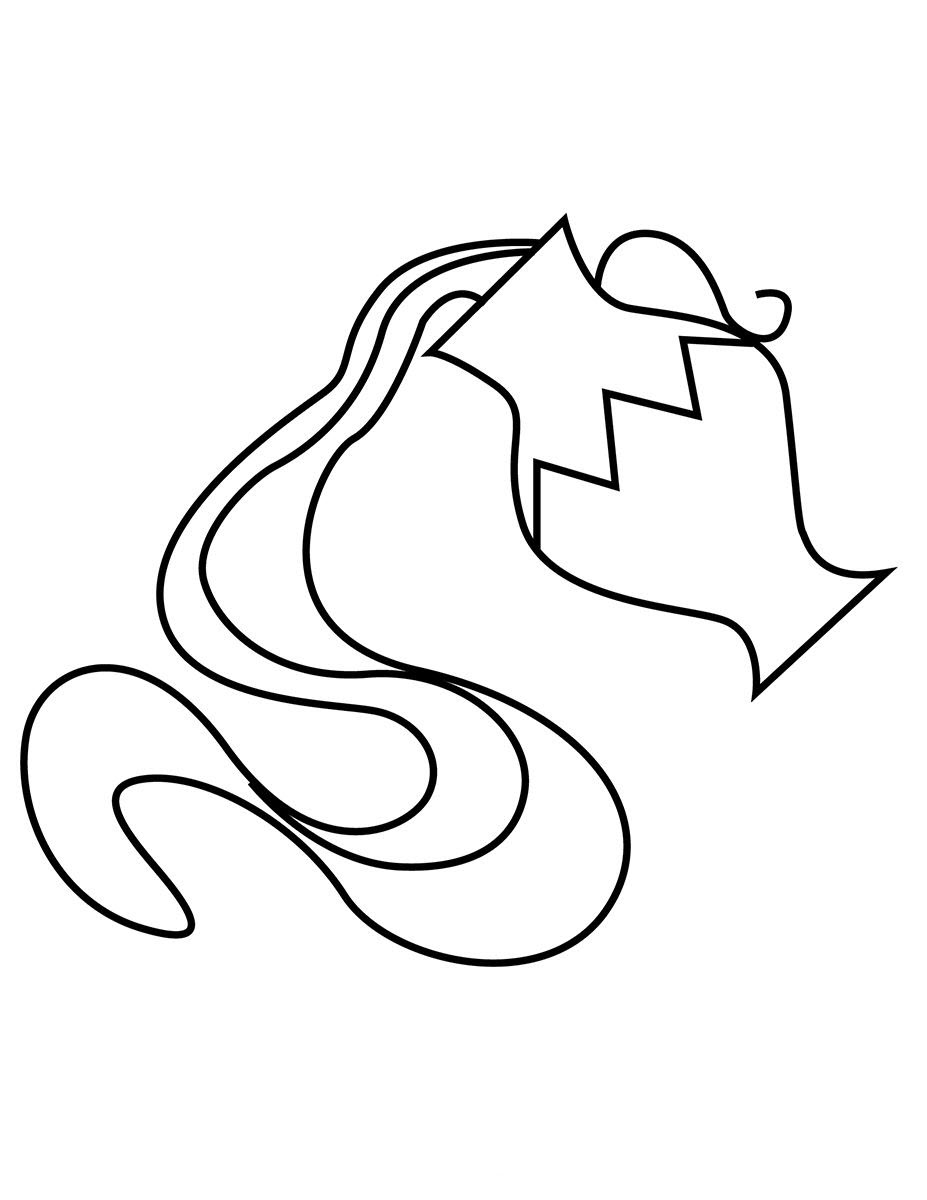 Tranh tô màu cung hoàng đạo Bảo Bình đẹp