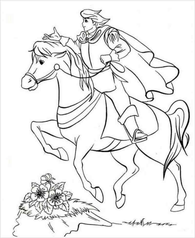 Tranh tô màu cưỡi ngựa cho bé trai