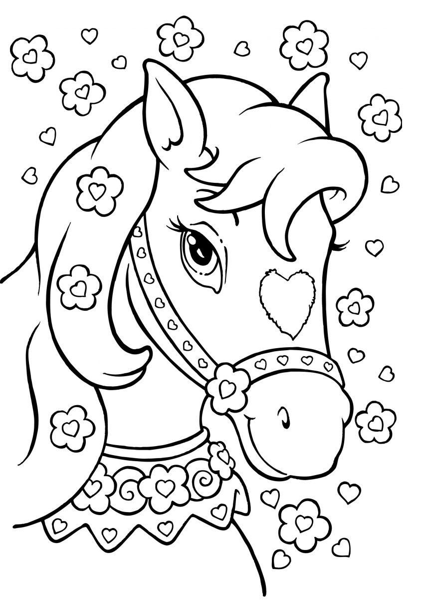 Tranh tô màu đầu con ngựa