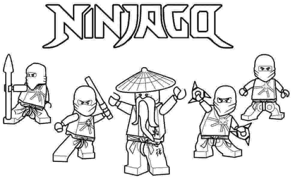 Tranh tô màu đẹp của ninjago
