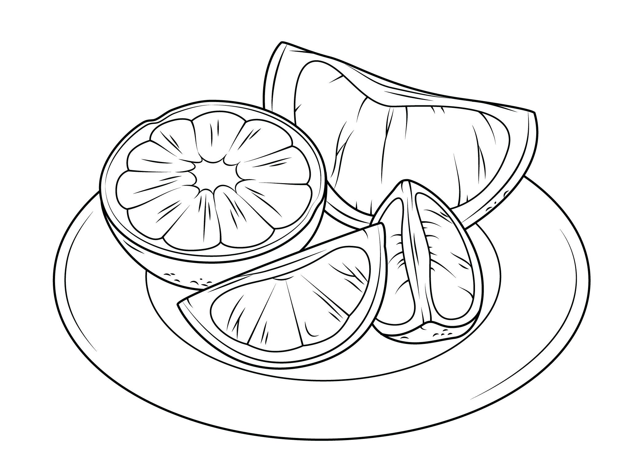 Tranh tô màu đĩa cam đẹp