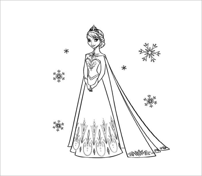 Tranh tô màu Elsa đẹp