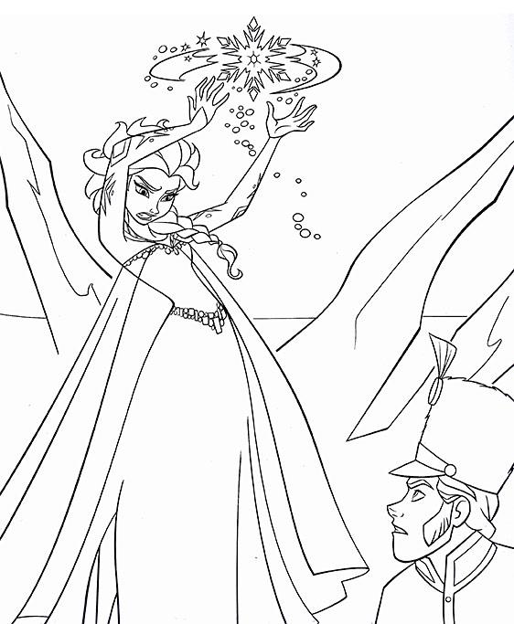 Tranh tô màu Elsa nữ hoàng băng giá