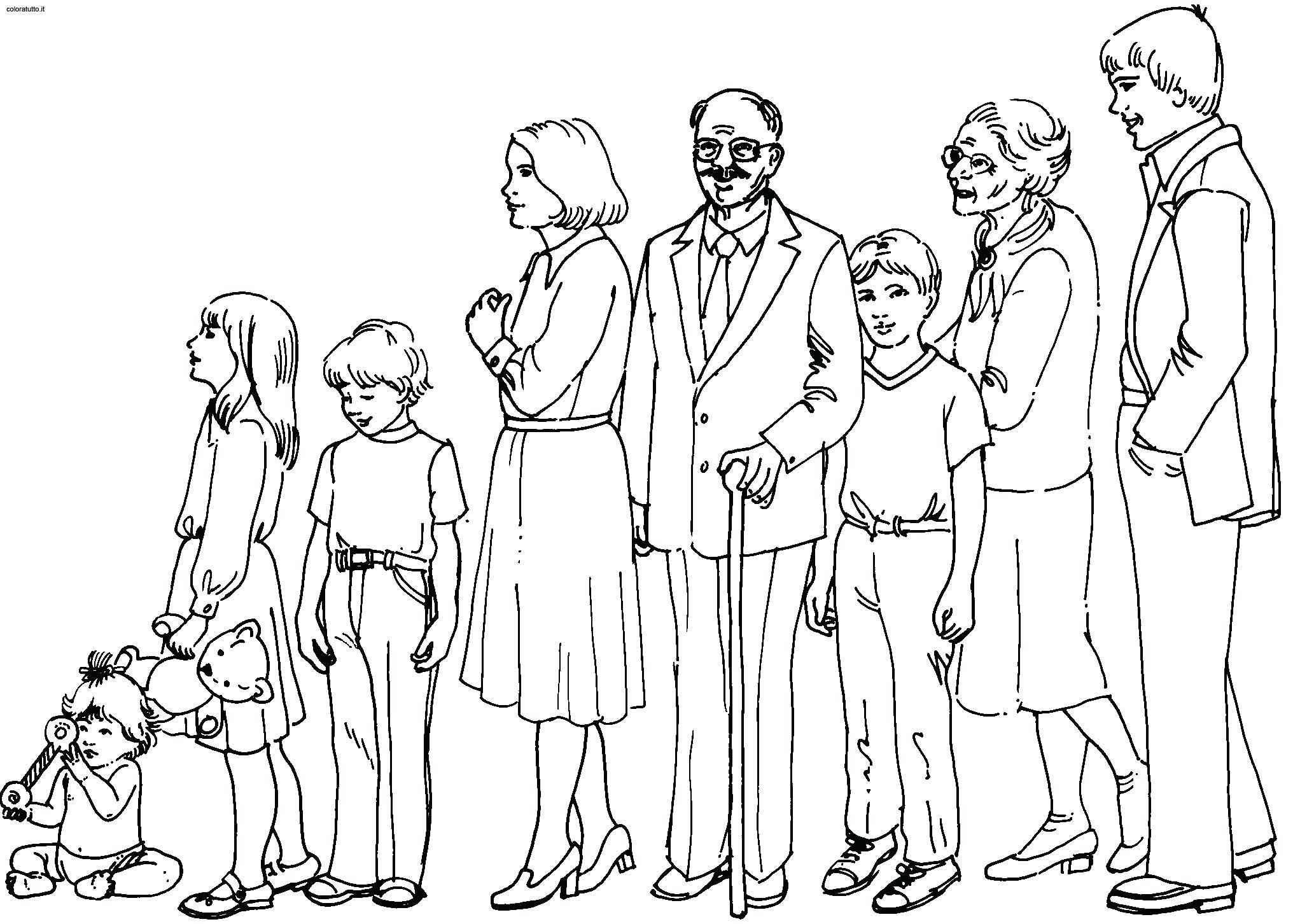 Tranh tô màu gia đình trong ngày tết
