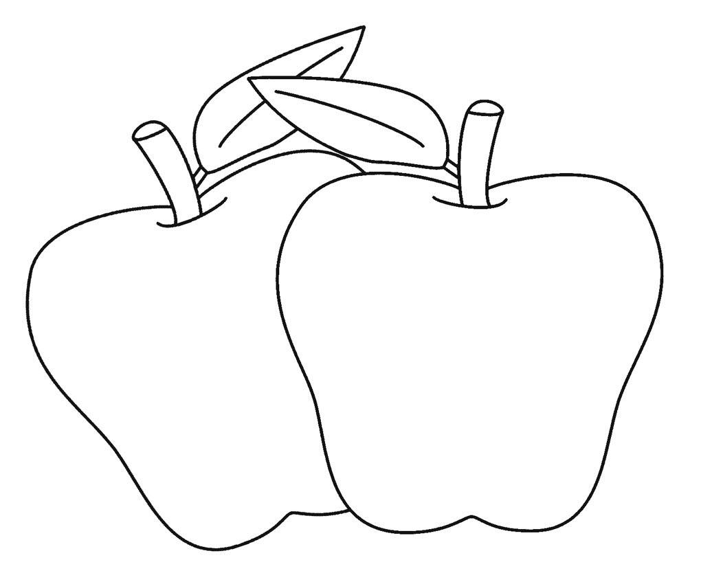 Tranh tô màu hai quả táo