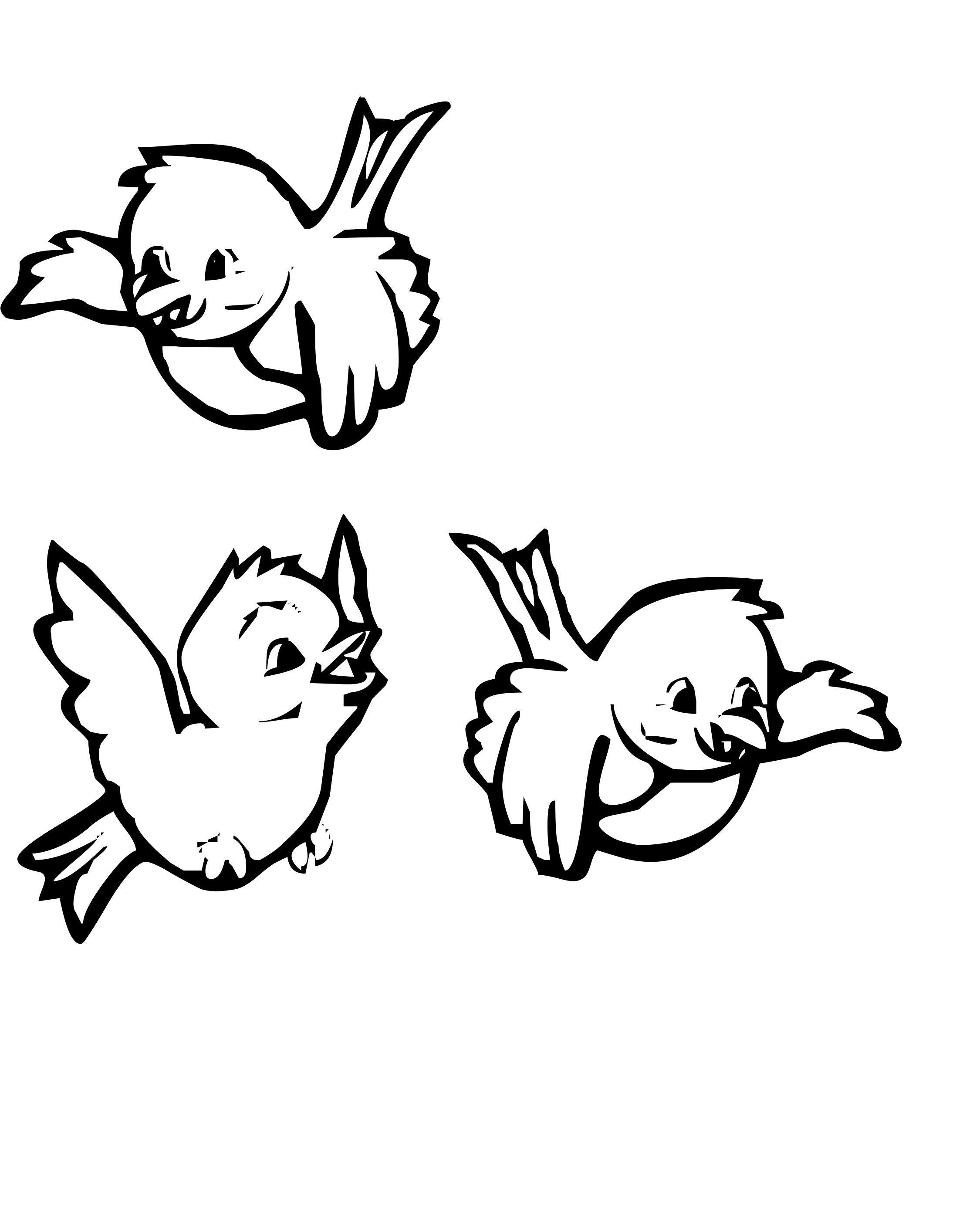 Tranh tô màu hình ba con chim con