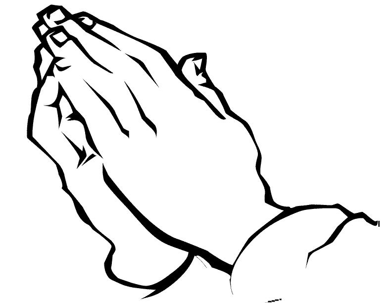 Tranh tô màu hình bàn tay úp vào nhau