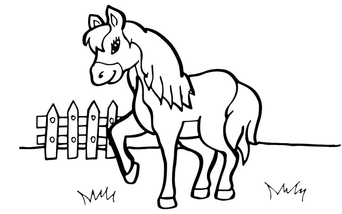 Tranh tô màu hình con ngựa đẹp