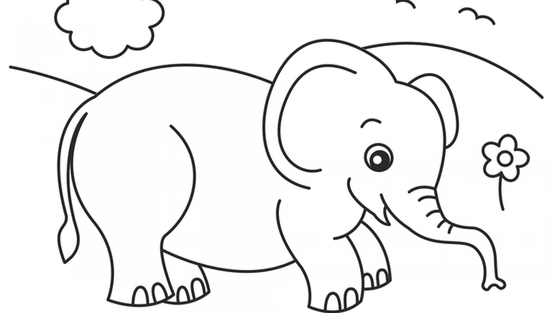 Tranh tô màu hình con voi rất đẹp