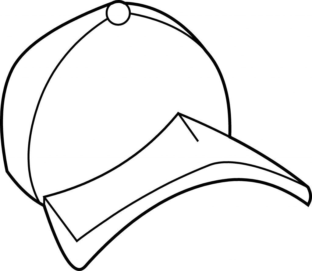 Tranh tô màu hình mũ lưỡi trai