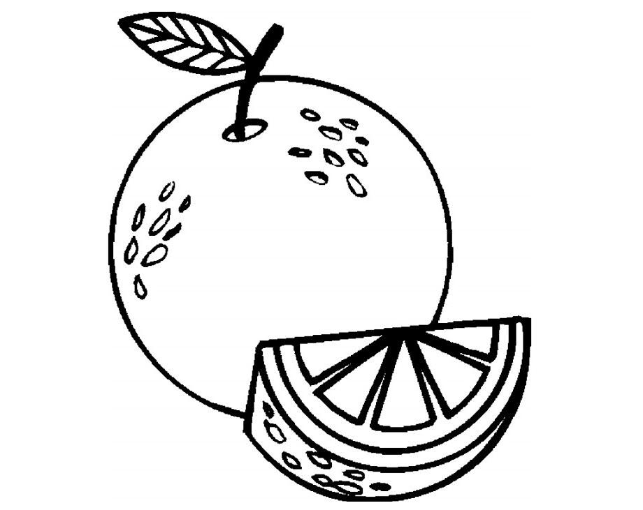TRanh tô màu hình quả cam đẹp