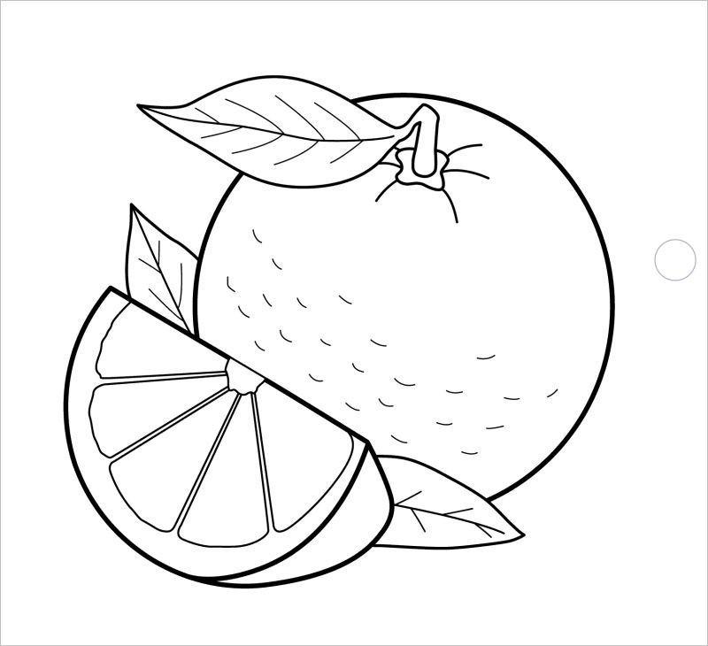 Tranh tô màu hình quả cam