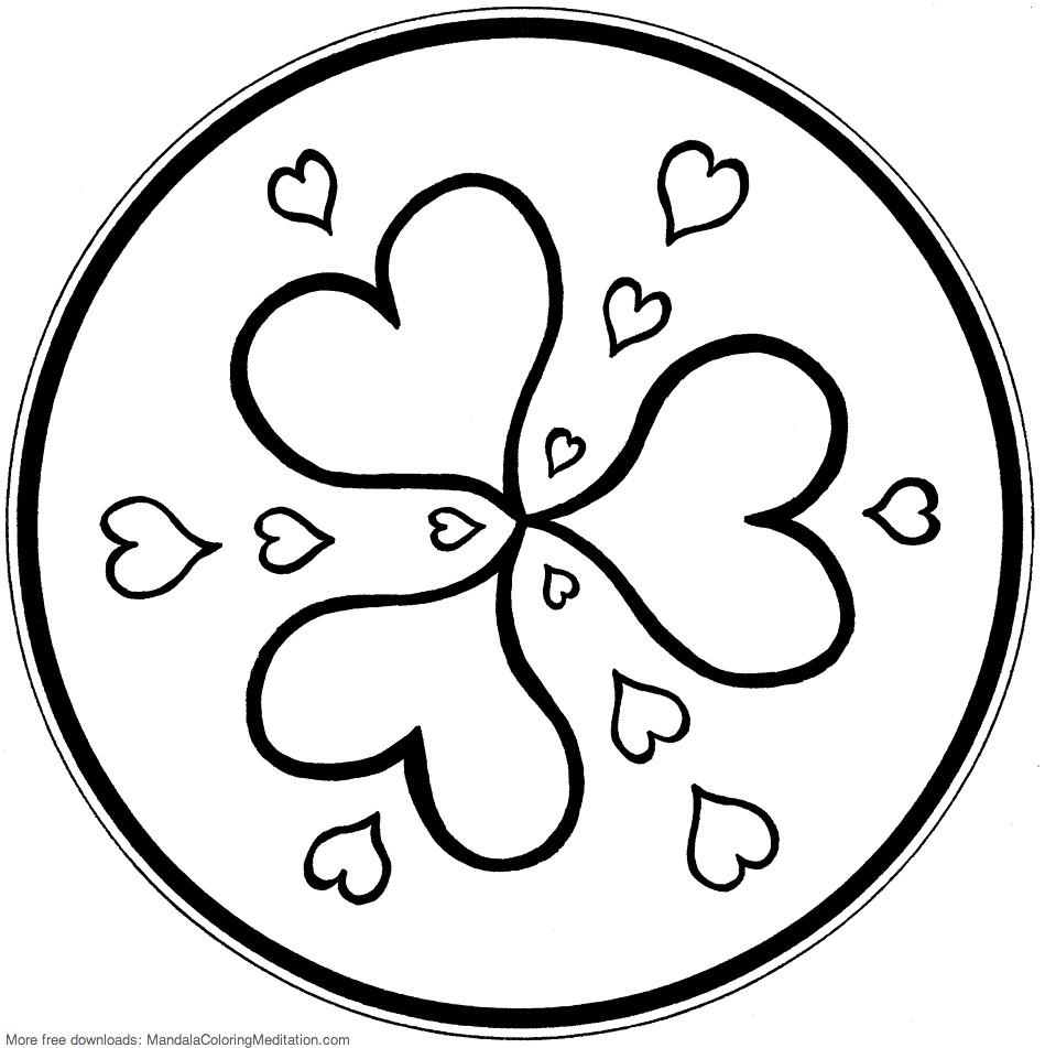 Tranh tô màu hình trái tim đẹp