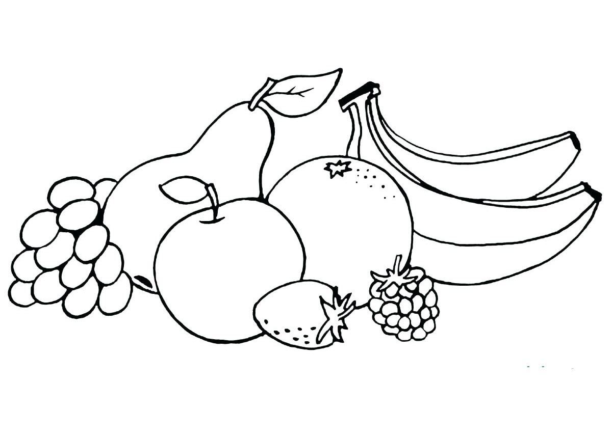 Tranh tô màu hoa quả đẹp cho bé 3 tuổi