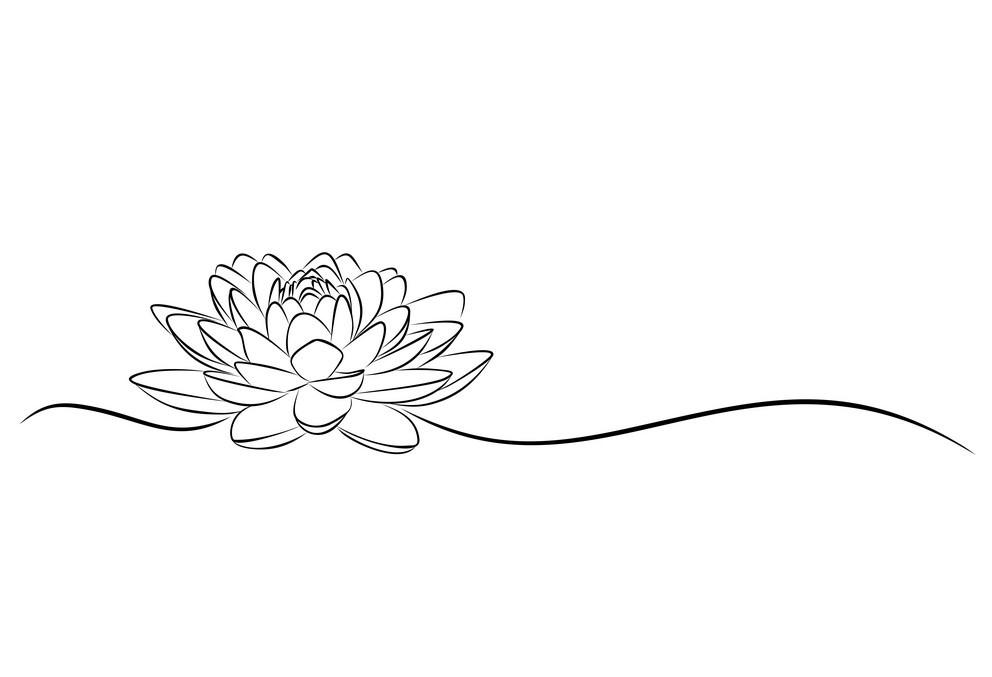 Tranh tô màu hoa sen đơn giản