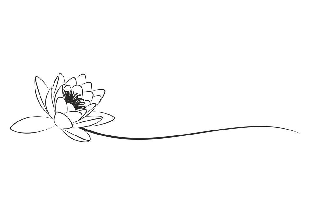 Tranh tô màu hoa sen mẫu