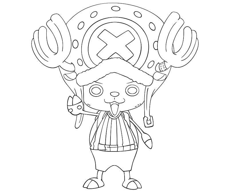 Tranh tô màu hươu bác sĩ trong One Piece