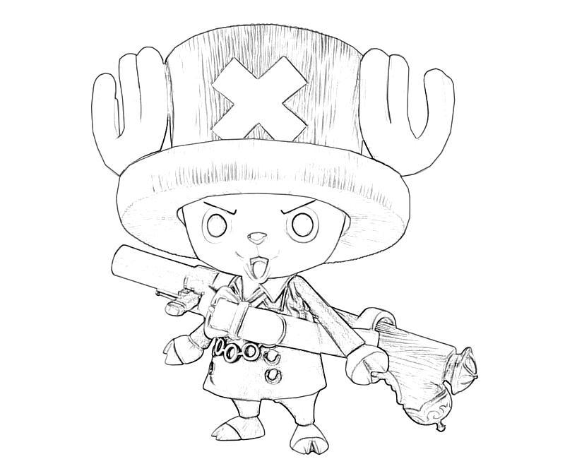 Tranh tô màu hươu One Piece đẹp