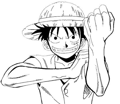 Tranh tô màu Luffy chiến đấu trong One Piece