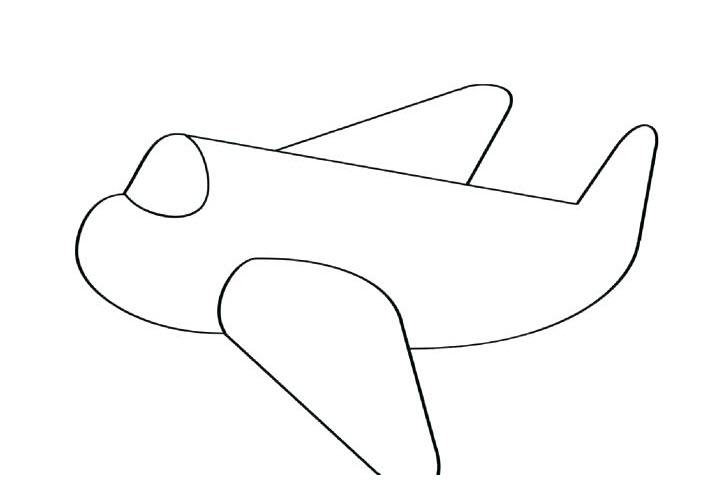 Tranh tô màu máy bay cho bé 3 tuổi