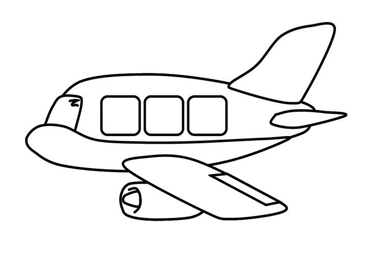 Tranh tô màu máy bay cho bé tập tô