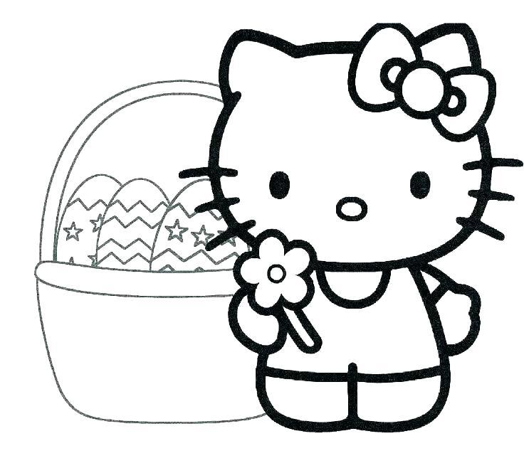 Tranh tô màu mèo kitty cho bé 3 tuổi