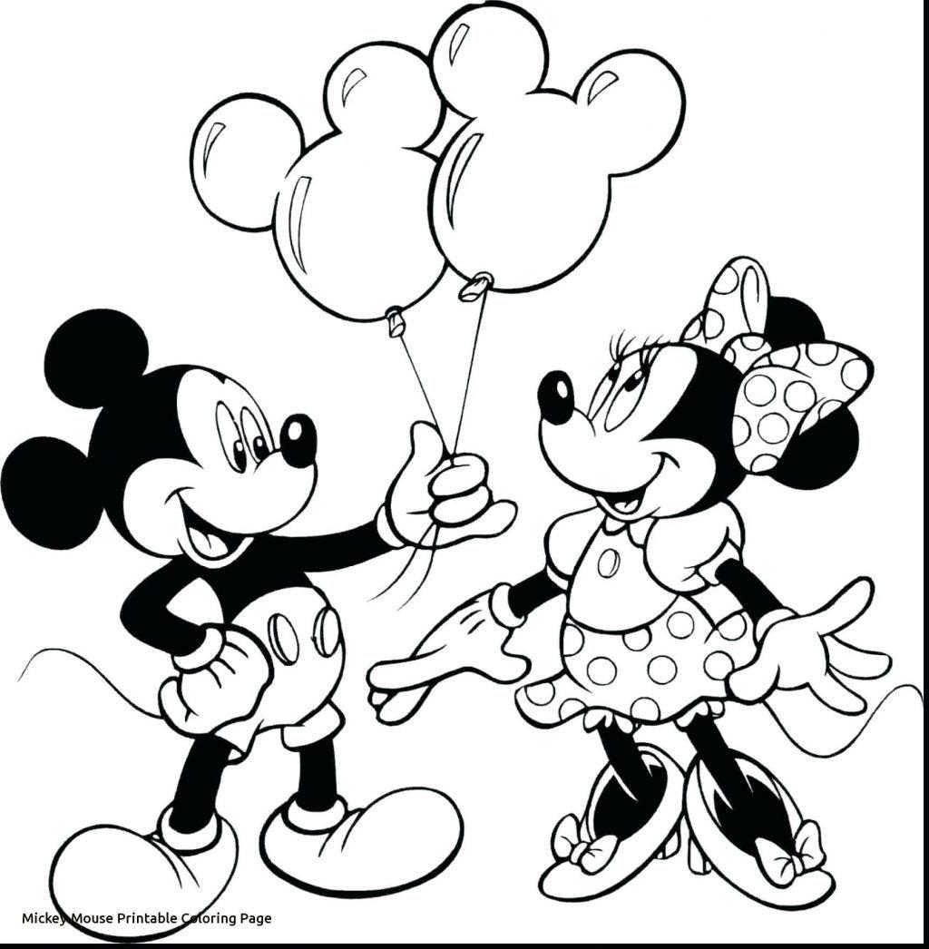 Tranh tô màu Mickey và bạn gái