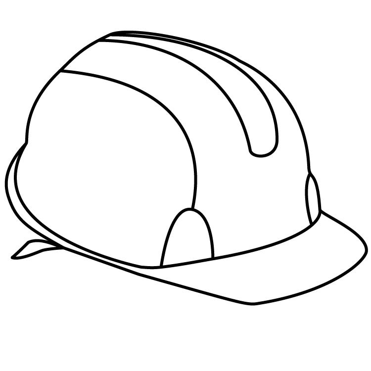 Tranh tô màu mũ bảo hộ lao động