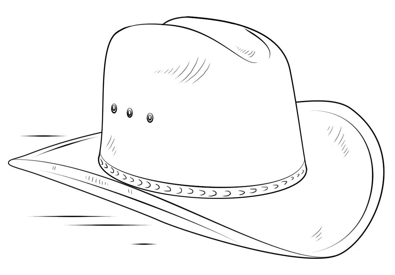Tranh tô màu mũ cao bồi