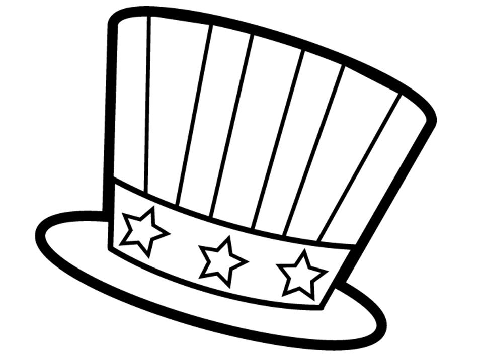 Tranh tô màu mũ có gắn sao đẹp