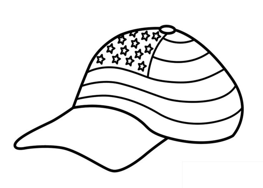 Tranh tô màu mũ cờ Mĩ