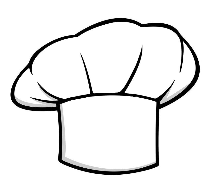 Tranh tô màu mũ đầu bếp