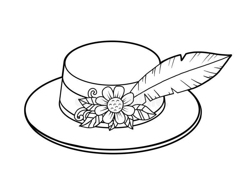 Tranh tô màu mũ gắn lông vũ