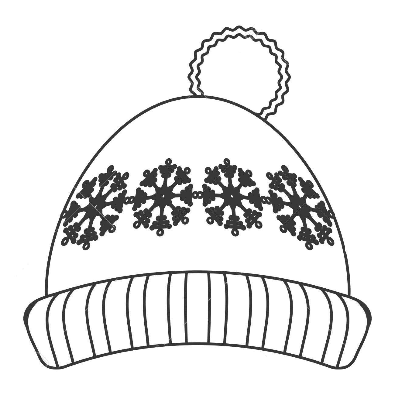 Tranh tô màu mũ len mùa đông